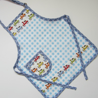 Child's Blue Scooter Apron