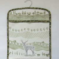 Stag and Trees Peg Bag