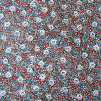 2 Yards of Unused Vintage Small Flower Print Fabric. Probably Liberty of London.