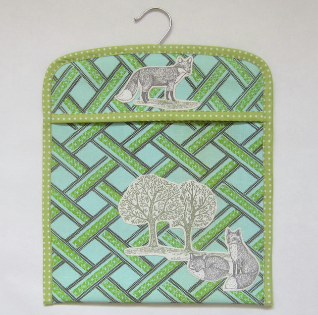 Fox and Trees Peg Bag