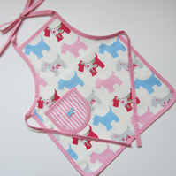 Children's Scottie Dog Apron - Age 2 to 4 Years Old