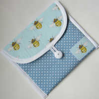 Bee and Spots Make Up Bag. Toiletries Bag.