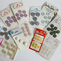 Selection of 11 Cards of Vintage Buttons