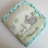 Appliqued Rabbit Needle Case