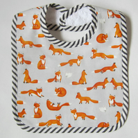 Babies Fox and Rabbit Bib with Velcro Fastening