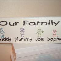 our family personalised plaque great christmas gift