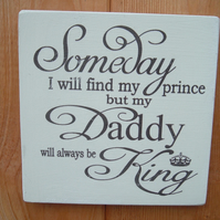 shabby chic vintage fathers day dad daddy prince king plaque sign