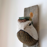 Lord Turtle Toad Handmade textile taxidermy wall sculpture trophy. Whimsical art