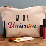 Unicorn Make Up Bag, Unicorn Cosmetic Bag, Toiletry Bag, Make-up Bag, Makeup Bag