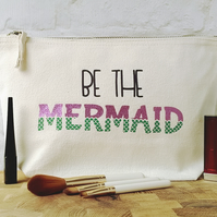 Glitter Mermaid Bag, Mermaid Makeup Gift, Mermaid Makeup Bag