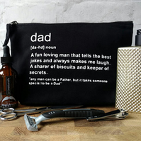 Father Toiletry Bag, Dad Grooming Bag, Dad Toiletry Bag, Personal Dad Gift