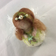 Needle Felted Christmas Fairy