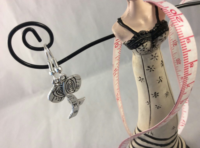 Silver Tape Measure Earrings