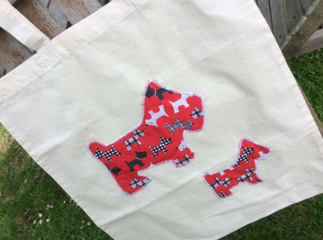 Red Scottie Dog Tote Bag