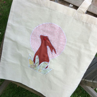 'To the Moon and Back' Hare Tote Bag