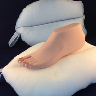 Footers Pale Blue Soft Sided Positional Foot Cushion