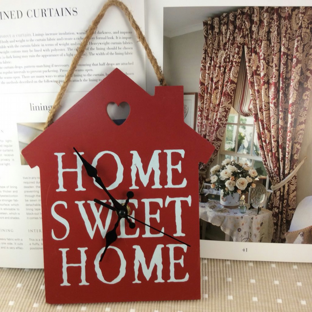 'Home Sweet Home' Clock