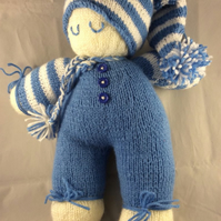 Sleeping Knitted Doll in Blue