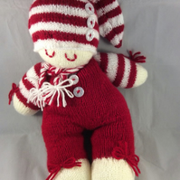 Sleeping Knitted Doll in Red