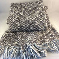 Hand Knitted Soft Grey Scarf