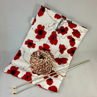 Poppy Knitting Craft Bag