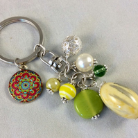 Lemon Bag Charm with Mandala