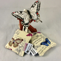 Pair of Butterfly English Lavender Bags