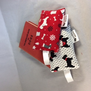 Pair of Red and White Scottie Dog Lavender Bags