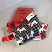 Pair of Red and Black Scottie Dog Lavender Bags