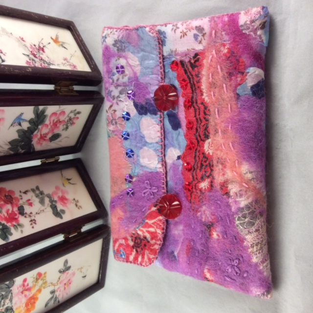 Nuno Felted Make-up Bag