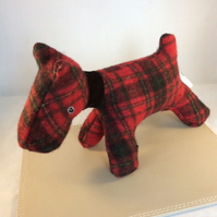Red Tartan Scottie Dog