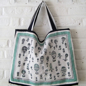 Handmade Recycled Hot Air Balloon Bag