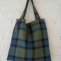 Handmade Recycled Reversible Kilt Bag