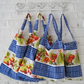 Handmade Recycled Vintage Kitchen Curtains Bag