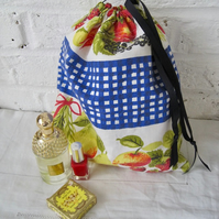 Handmade Recycled Kitchen Curtains Waterproof Washbag
