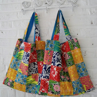 Handmade Recycled Bright Patchwork Bag