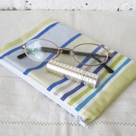 Handmade Striped Lined Pouch