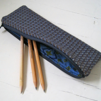 Handmade Recycled Tweed Pencil Case