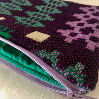 Handmade Recycled Welsh Tapestry Weave Pouch
