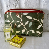Handmade Recycled Botanical Pouch
