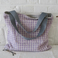 Handmade Recycled Reversible Tweed Bag