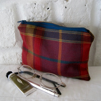 Handmade Recycled Tartan Pouch