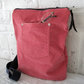 Handmade Recycled Dusty Pink Corduroy Messenger Bag