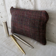 Handmade Recycled Purple Tweed Pouches
