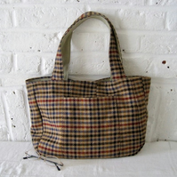 Handmade Recycled Tweed Bag