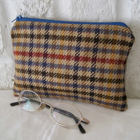 Handmade Recycled Tweed Pouch