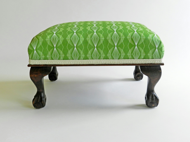 Connie - An Up-cycled Antique Footstool