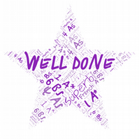 Exam Results, Congratulations, Well Done, Personalised Word Art