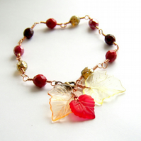 Bracelet with Autumn leaves