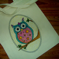 Tote bag - Blue owl